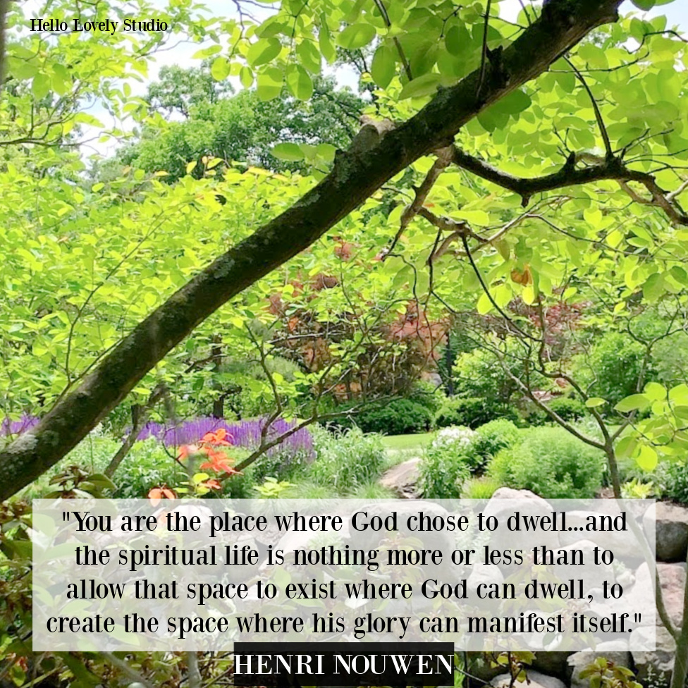 Henri Nouwen Christianity quote about being a dwelling place for God - Hello Lovely Studio. #christianquotes #faithquotes #Godquotes #henrinouwen