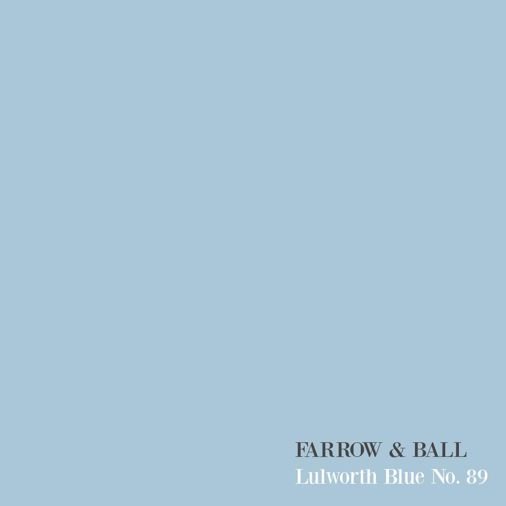 Lulworth Blue (Farrow & Ball) paint color swatch. #lulworthblue #bluepaintcolors