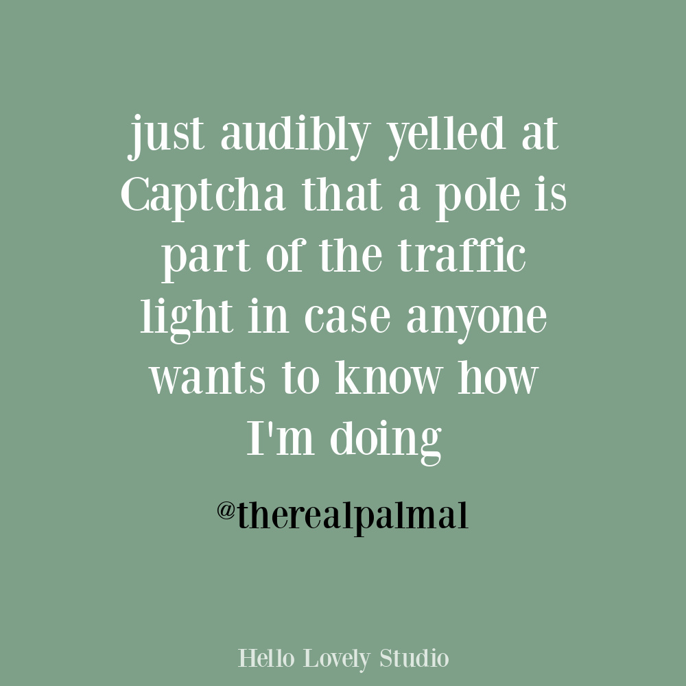 Funny internet humor tweet quote about captcha. #funnytweets #oneoffhumor #humorquotes