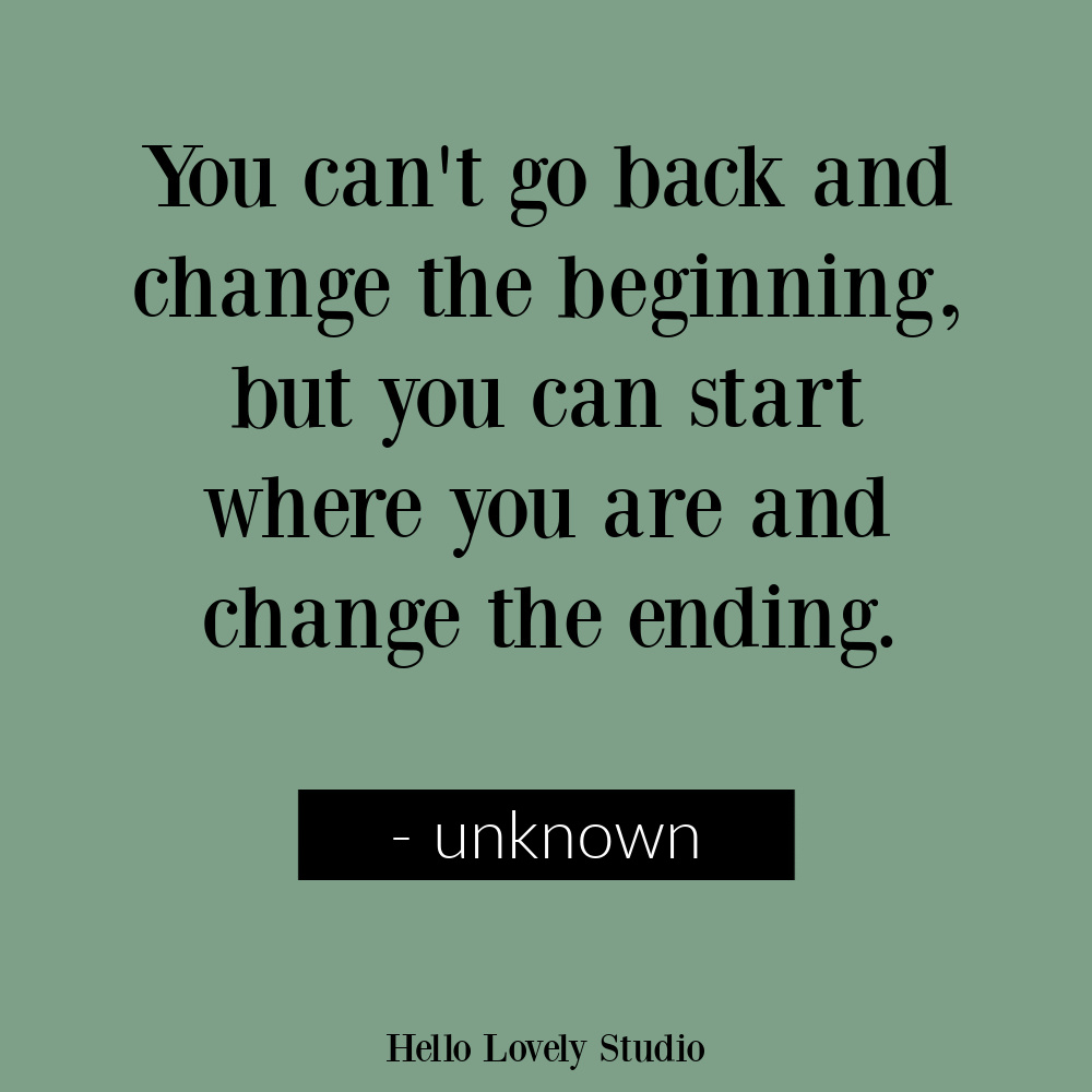 Hope quote about changing the ending - unknown author. #hopequotes