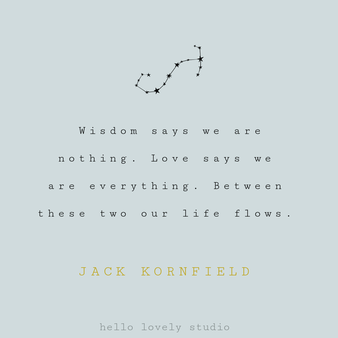 Zen quote for mindfulness, peace, and greater awareness on Hello Lovely Studio. #zenquotes #mindfulnessquotes