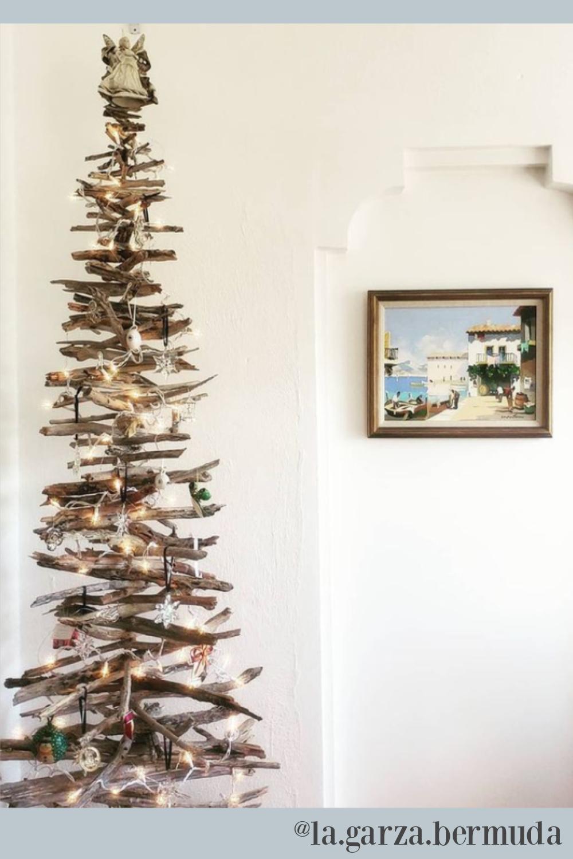 Driftwood Christmas tree. #driftwoodtree #christmastrees