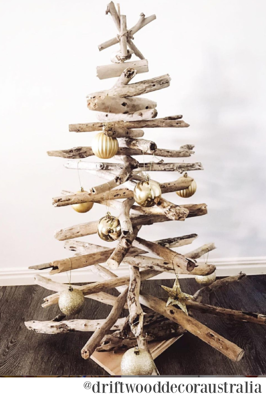 Driftwood Christmas tree by Driftwood Decor Australia. #driftwoodtree #christmastrees