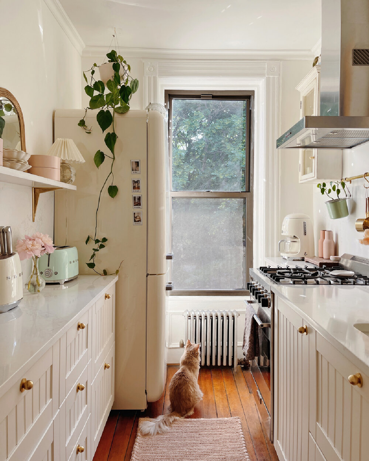 Before and After Brooklyn kitchen remodel with Ikea cabinets and Nieu bespoke cabinet door fronts - design by Reserve-Home. #ikeacabinets #refacedcabinets #beforeandafter #kitchenremodel