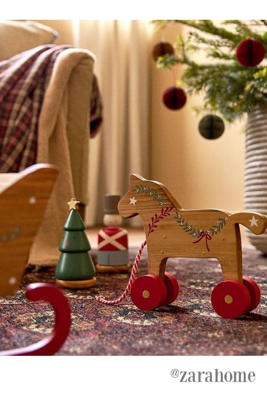 Swedish Christmas decor and dala horse - @zarahome. #swedishchristmas #dalahorse #scandichristmas