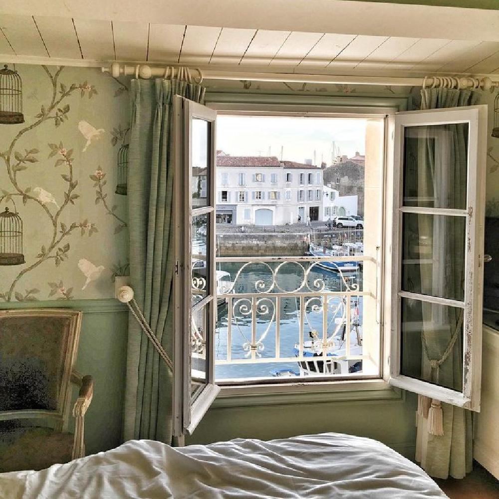 Open windows from a room at Ile de Re Hotel Toiras - vivi et Margot.