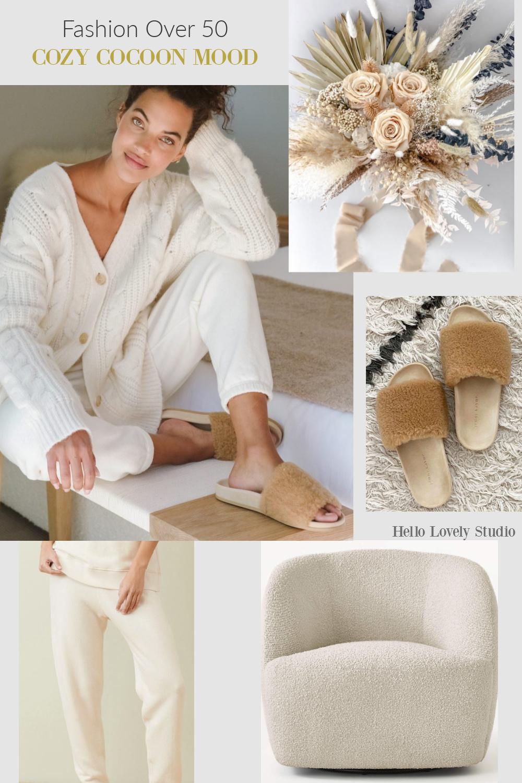 Fashion Over 50 Cozy Cocoon Mood on Hello Lovely Studio. #fallfashion #knitwear #fashionover50