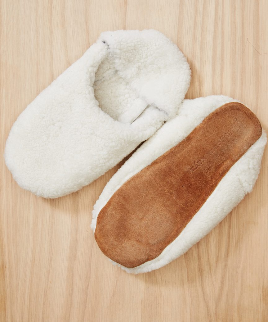 Shearling Moroccan slippers from Jenni Kayne