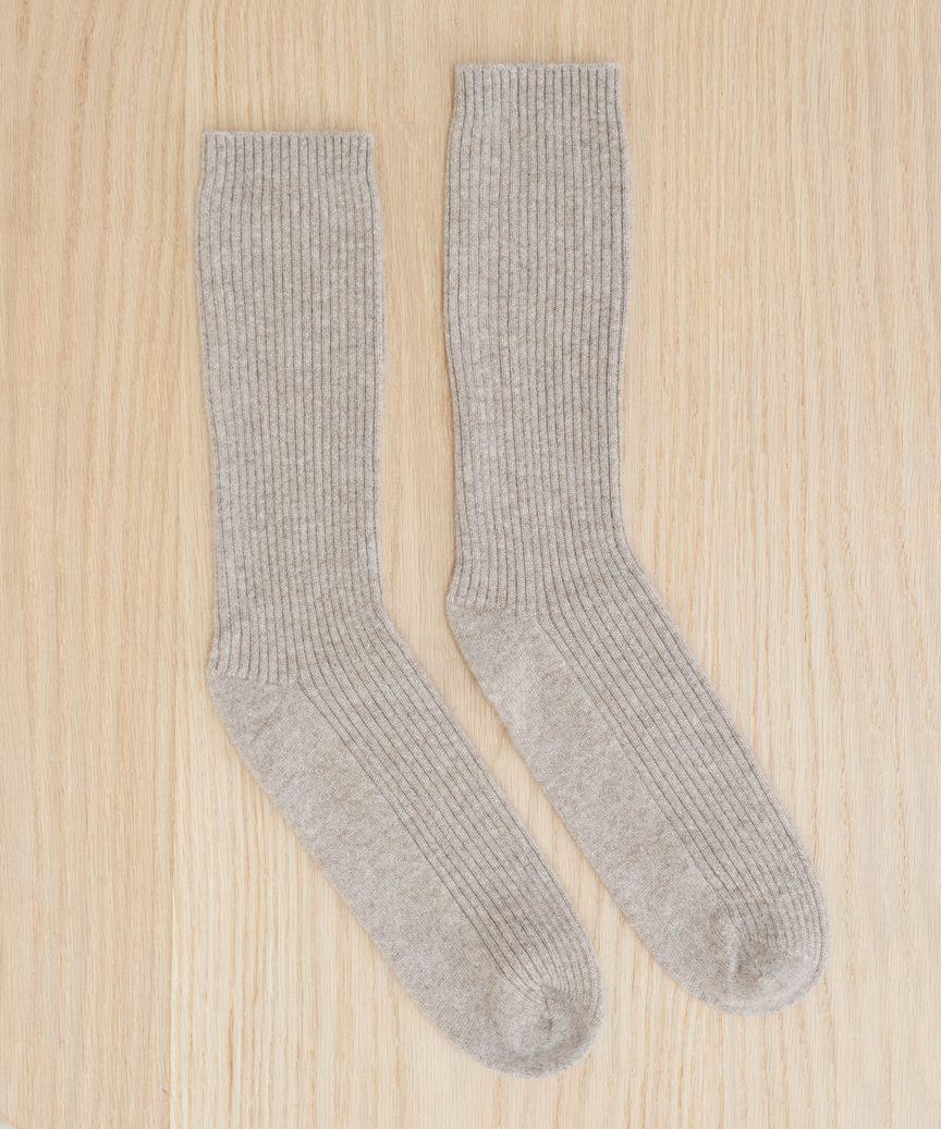 Cashmere socks in stone from Jenni Kayne
